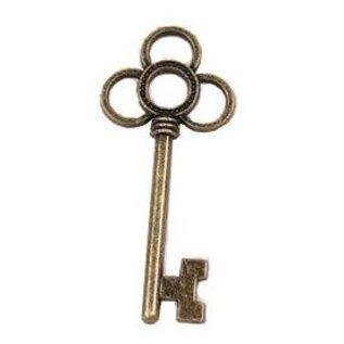 Embellishments / Verzierungen 2 Metall Charms Set Schlüssel, 53x24 mm