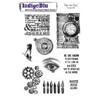 """LaBlanche Rubber stamp, IndigoBlu, """"prendre le temps"""", A5"""