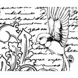 IndigoBlu Carimbo de borracha, IndigoBlu Antique Songbird Montada A6