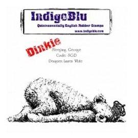 IndigoBlu Gummi Stempel,IndigoBlu Sleeping George Dinkie Mounted A7