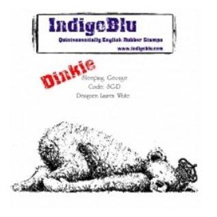 IndigoBlu Rubber stamp, IndigoBlu Sleeping George Dinkie Mounted A7