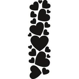 Marianne Design Stempling og Embossing stencil, Marianne Design Hearts