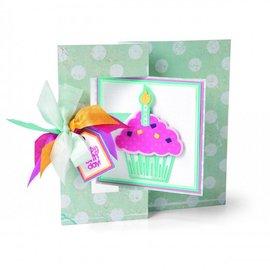 Sizzix Estampado y Repujado plantilla, Sizzix, ThinLits, Cupcakes