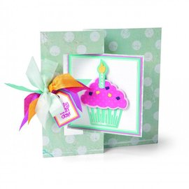 Sizzix Stamping and Embossing stencil, Sizzix, ThinLits, Cupcakes