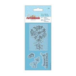 Docrafts / Papermania / Urban Clear stamps, timbre Mini-précision, Pippi Bois de Noël