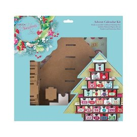 Docrafts / Papermania / Urban ADVENTSKALENDER SET Calendar Kit - Lucy Cromwell At Christmas