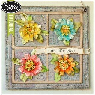 Sizzix Stampen en Embossing stencil, Sizzix, ThinLits - Flower, Zinnia