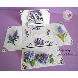 Sizzix Stempling og Embossing stencil, Sizzix, ThinLits, Blomst, Lilac