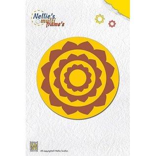 Nellie Snellen Stanz- und Prägeschablone, Nellie`s Multi Rahmen Rund