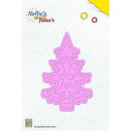 Nellie Snellen Poinçonnage et modèle de gaufrage Nellie`s multi cadre, l'arbre de Noël