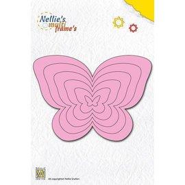 Nellie Snellen Stanz- und Prägeschablone, Nellie`s Multi Rahmen, Schmetterlinge