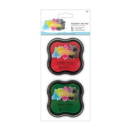 Docrafts / Papermania / Urban Metallic ink pad Water-based (2p) - red and gün
