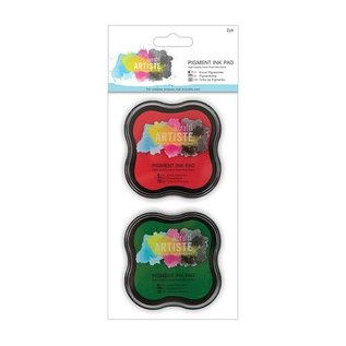 Metallic ink pad Water-based (2p) - red and gün