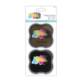 Metallic ink pad Water-based (2p) - brown and black