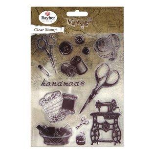Stempel / Stamp: Transparent Transparent Stempel, Vintage Handarbeit