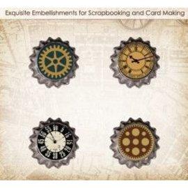 Embellishments / Verzierungen Conjunto de ScrapBerry Of Metal Cork Carro Antigo