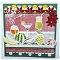 Joy!Crafts / Jeanine´s Art, Hobby Solutions Dies /  Poinçonnage et de gaufrage pochoir frontière avec des fruits