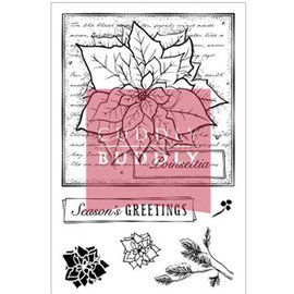 Studio Light Clear stamps, des motifs de Noël, Poinsettia Collage