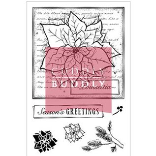 Studio Light Clear stamps, Christmas motifs, Poinsettia Collage