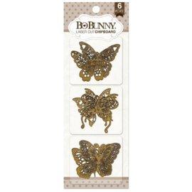 BO BUNNY Laser de Bo Coelho corte aglomerado, borboletas