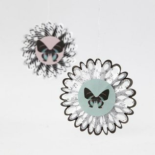 Komplett Sets / Kits Bastelset, rosaces, D: 8 cm, 6 pièces