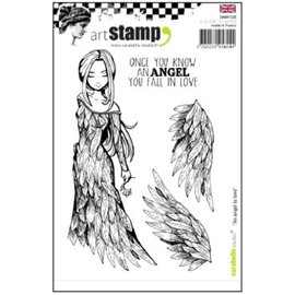 Stempel / Stamp: Transparent Gummi Stempel, an angel to love