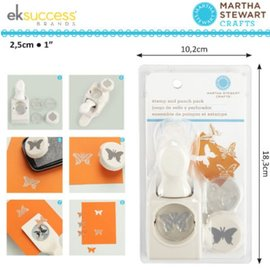 EK Succes, Martha Stewart Martha Stewart, des timbres et des coups de poing: Butterfly