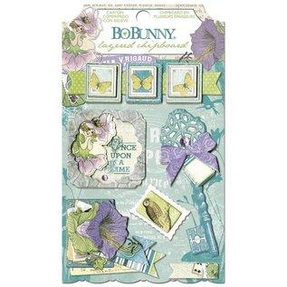 BO BUNNY Sticker, Chipboard Enchanted Garden, sortiert