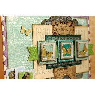 BO BUNNY Stickers, Chipboard Enchanted Garden sorted,