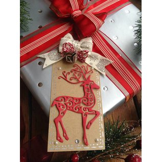 Tattered Lace Stamping and punching template, Tattered Lace, Reindeer
