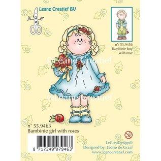 Leane Creatief - Lea'bilities Transparent Stempel, Bambini Mädchen mit Rosen