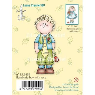 Leane Creatief - Lea'bilities Clear stamps, Bambini garçon avec une rose