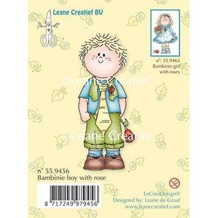 Leane Creatief - Lea'bilities Transparent Stempel, Bambini Jungen mit eine Rose