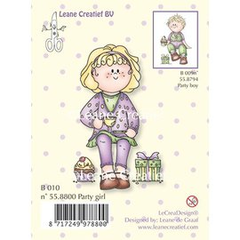 Leane Creatief - Lea'bilities und By Lene Clear stamps, Party girl