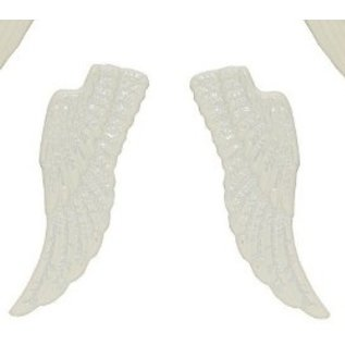 Embellishments / Verzierungen Metal Set wings, 4 pieces, white