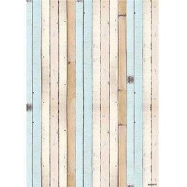 Studio Light A4 background sheet - wood design bow