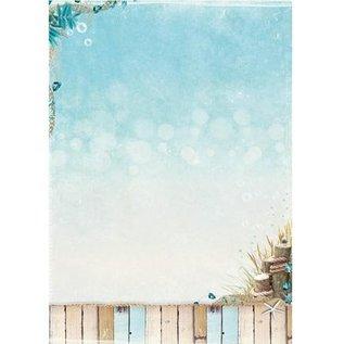 Studio Light A4 background sheet - Summer at the Beach