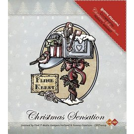 Yvonne Creations Stamp, Yvonne Creations, Christmas Mailbox