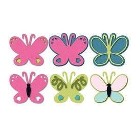 Sizzix Socos e estampagem modelo Triplits borboleta
