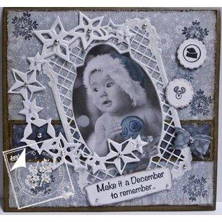 Joy!Crafts / Hobby Solutions Dies Stempling og prægning stencil, frame rektangel filigrane, Ov ale ramme og label