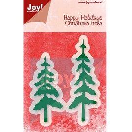 Joy!Crafts / Jeanine´s Art, Hobby Solutions Dies /  Ponsen en embossing sjabloon, bomen