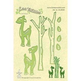 Leane Creatief - Lea'bilities Stansning og prægning skabelon Lea'bilitie, rensdyr og træer