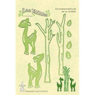 Leane Creatief - Lea'bilities Stanz- und Prägeschablone, Lea'bilitie, Rentiere und Bäume