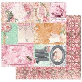 BO BUNNY papier Designer, 30,5 x 30,5 cm, le bonheur Bo Bunny Madeleine