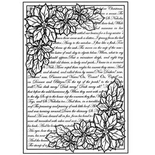 CREATIVE EXPRESSIONS und COUTURE CREATIONS Gummistempel baggrund med tekst