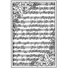 CREATIVE EXPRESSIONS und COUTURE CREATIONS Carimbo de borracha de fundo com notas