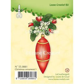 Leane Creatief - Lea'bilities Clear Stamps, kerstbal 1