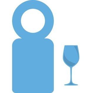 Marianne Design Stanz- und Prägeschablone, Creatables - Flaschen Label