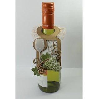 Marianne Design Stansning og prægning skabelon Creatables - Bottle Label