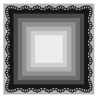Marianne Design Stansning og prægning skabelon Craftables, 8 frame firkanter
